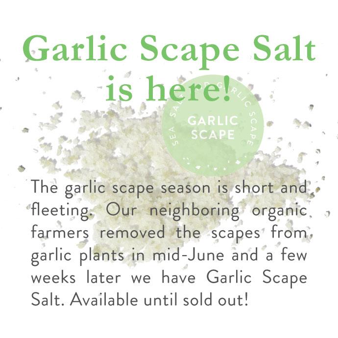 Garlic Scape Finishing Salt is here!