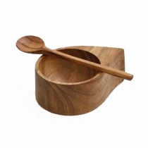 Teak Cellar & Spoon